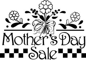 Royalty Free Clipart Image of a Mother's Day Promo