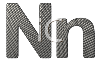 Royalty Free Clipart Image of a Capital and Lowercase N