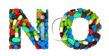 Royalty Free Clipart Image of Pharmaceutical Font N and O
