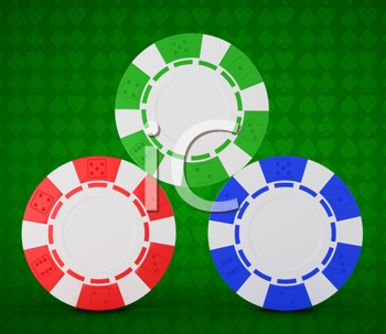 Royalty Free Clipart Image of Casino Chips
