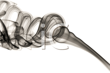 Abstract fume shape over the white background