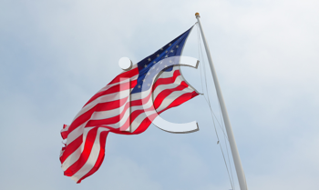 Royalty Free Photo of the American Flag Flying
