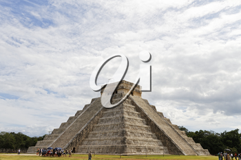 Chichen Itza, Mexico - October 30, 2012: Chichen Itza Maya ruins has 14 million visitors annually, it is 11th most visited site in the world