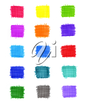 Set of abstract colorful elements for design