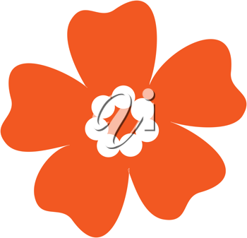 Royalty Free Clipart Image of an Orange Flower