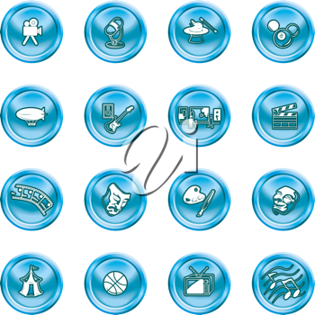 Royalty Free Clipart Image of Media Icons