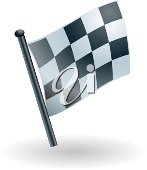 Royalty Free Clipart Image of a Checkered Flag