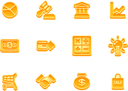 Royalty Free Clipart Image of a Business and Finance Icons