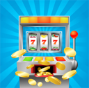 Royalty Free Clipart Image of a Slot Machine