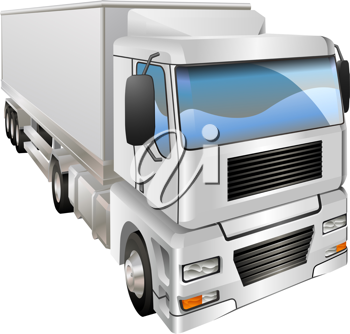 Royalty Free Clipart Image of a Haulage Truck