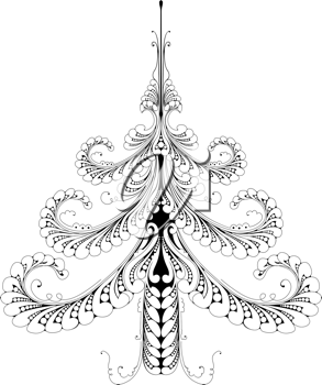 Royalty Free Clipart Image of an Abstract Christmas Tree