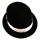 Stylish hat of black color isolated over white