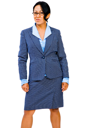 Portrait of a businesswoman posing and smiling isolated over white