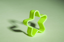Close-up of a star shaped cookie cutter