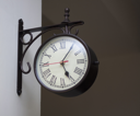 Close-up of a clock on the wall