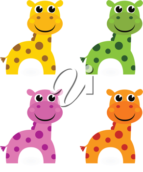 Royalty Free Clipart Image of Toy Giraffes
