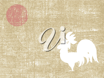 Royalty Free Clipart Image of a Rooster Background