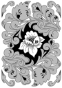 Royalty Free Clipart Image of a Floral Ornament