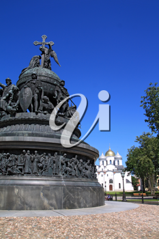 monument of the millennium to Russia in Great Novgorod