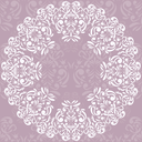 Invitation card with damask background and elegant floral elements, EPS8 - vector graphics.