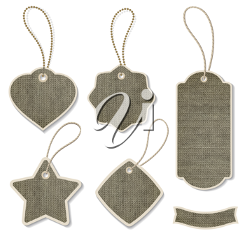 Royalty Free Clipart Image of a Tags