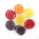Colorful candies sweets background.