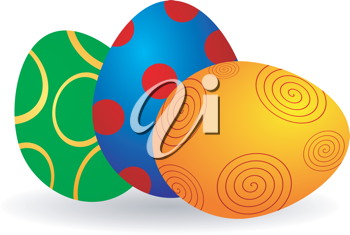 Royalty Free Clipart Image of Easter Eggs