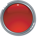 Vector glossy red button