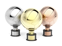 Volleyball trophies for first, second and third place