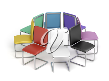 Modern dining chairs with different colors