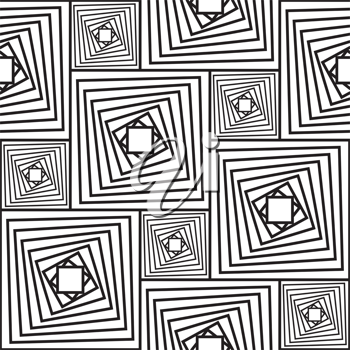 Royalty Free Clipart Image of a Black and White Abstract Background
