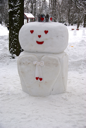 Royalty Free Photo of a Snowman in Tallinn Estonia