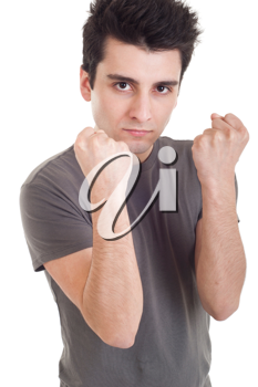 Royalty Free Photo of a Man Holding Up His Fists