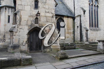 Royalty Free Photo of St.Mary De Lode Church Westgate in Gloucester, England