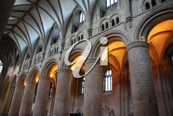 Royalty Free Photo of the Interior of the Famous Gloucester Cathedral, England