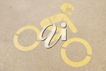Royalty Free Photo of a Motorcycle Sign Painted on Pavement