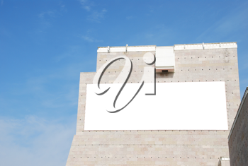 Royalty Free Photo of a Billboard on a Building