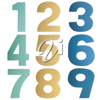 Royalty Free Photo of Colorful Numbers