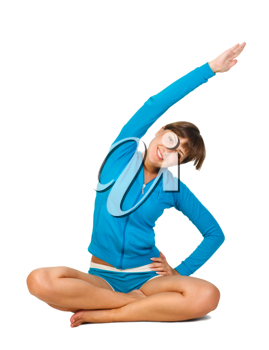 Royalty Free Photo of a Woman Stretching