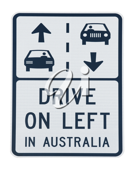 Royalty Free Photo of an Australian Road Sign