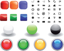 Royalty Free Clipart Image of a Different Icons