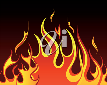 Inferno fire vector background for design use