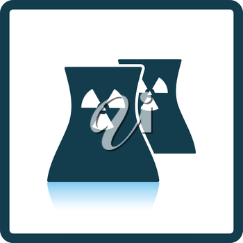 Nuclear station icon. Shadow reflection design. Vector illustration.
