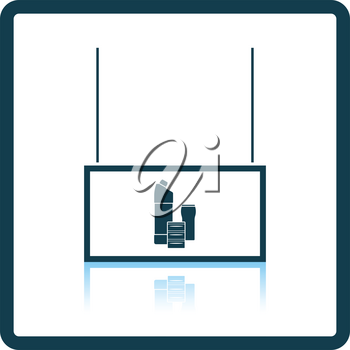 Household chemicals market department icon. Shadow reflection design. Vector illustration.