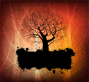 Royalty Free Clipart Image of an Abstract Tree Background