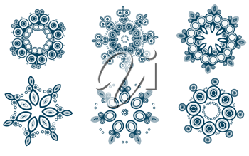 Royalty Free Clipart Image of Ornamental Designs