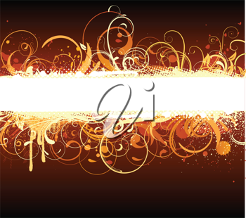 Royalty Free Clipart Image of a Decorative Floral Banner