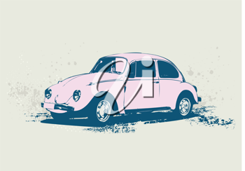 Royalty Free Clipart Image of a Volkswagen Beetle