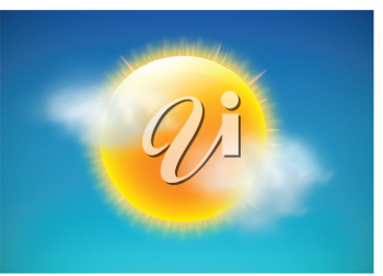 Royalty Free Clipart Image of a Sunshine