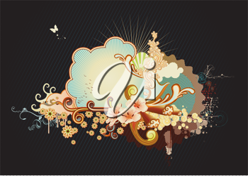 Royalty Free Clipart Image of a Funky Design